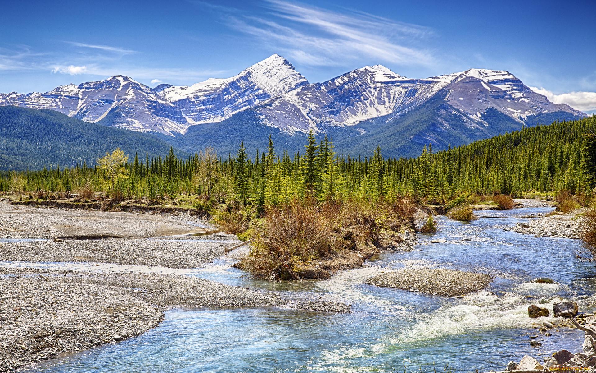 природа, реки, озера, река, лес, горы